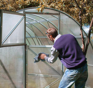 Чем обработать теплицу из поликарбоната осенью
