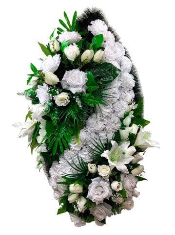 Выбор ритуального венка из искусственных цветов